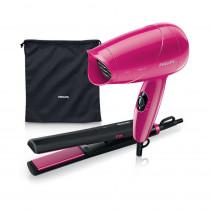 Set de viaje Secador de cabello + Plancha de pelo Philips HP8644