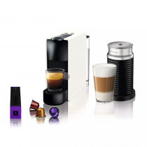 Nespresso Cafetera ESSENZA Mini White + AERO
