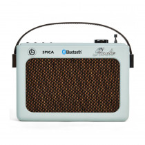 Spica Radio Portatil Retro SP-220 USB BlueTooth BAT IN - Celeste