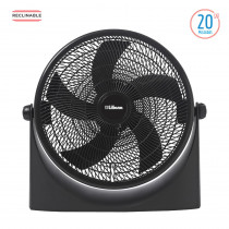"Liliana Turboventilador 20"" Reclinable VTF20P Negro"