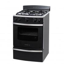 ORBIS Cocina 4H 55cm 938GP Serie 3 Negro y Acero