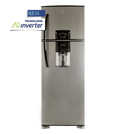 General Electric Hel. 410lts  No Frost  HGE455S-M12L/ BIOINVERTER DISP TOUCH c/freezer Inox