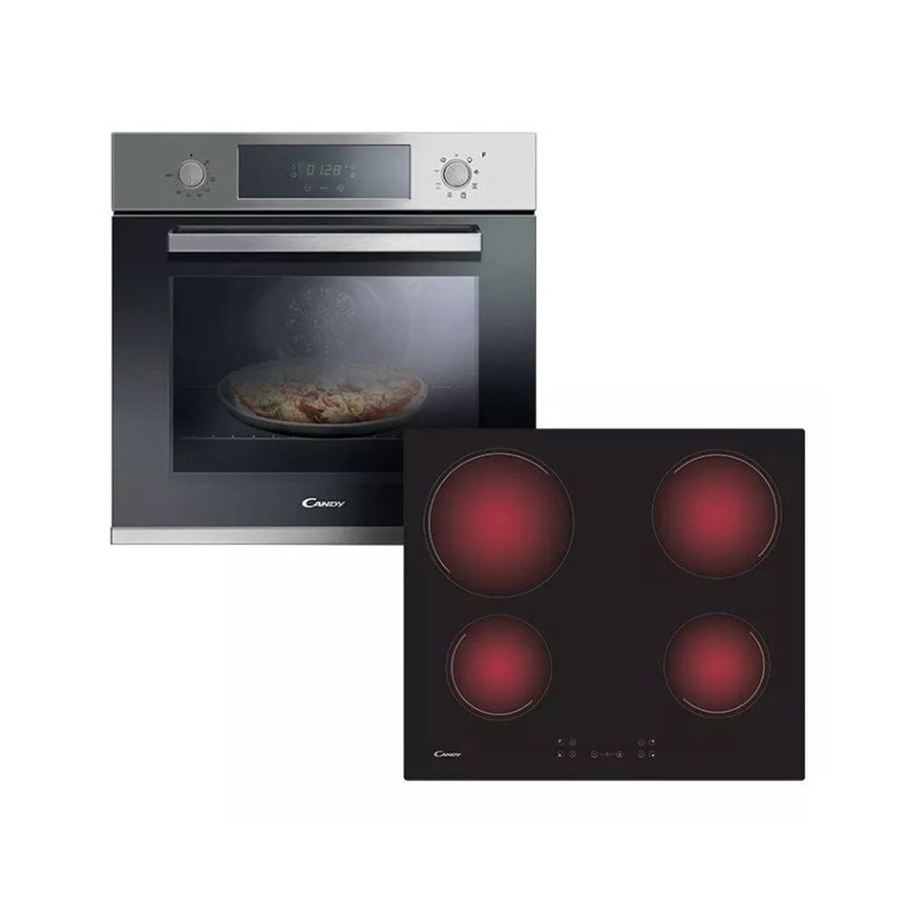 Candy Pack Horno Electrico Empotrable FCP605X + Anafes CH64CCB