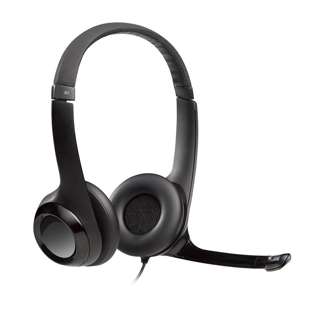 Logitech Auricular USB H390 C/Mic Negro