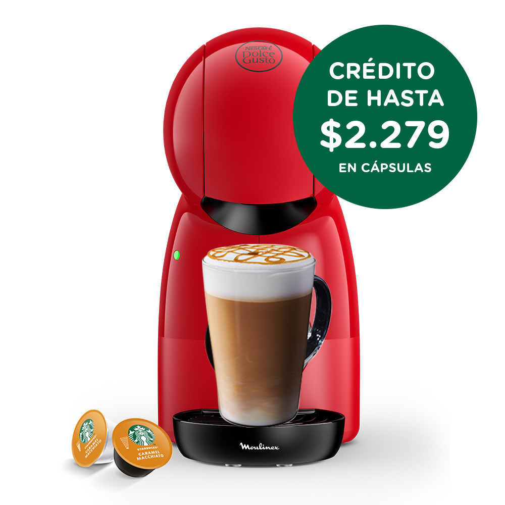 Moulinex Cafetera Dolce Gusto Piccolo PV1A0558 Roja