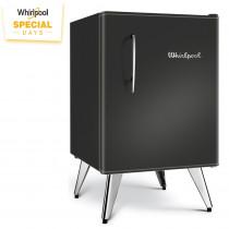Whirlpool Heladera WRA09B1/3 Vintage Negra 76Lt