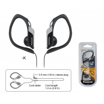 Panasonic Auriculares Sports Negro RP-HS34PPK