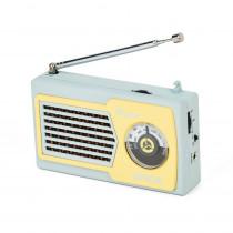 Spica Radio Portatil Retro SP-555 Analogica - Celeste