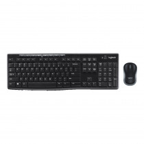 Logitech MK270/4432 Mouse Optico + Teclado inalambrico Negro-Gris