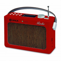 Spica Radio Portatil Retro SP-220 USB BlueTooth BAT IN - Roja
