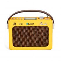 Spica Radio Portatil Retro SP-220 USB BlueTooth BAT IN - Amarillo