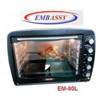 Embassy Horno Eléctrico EM-80Lts 2000wts convección y spiedo