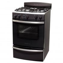 ORBIS Cocina 4H 55cm 958GP Serie 3 Negro y Acero