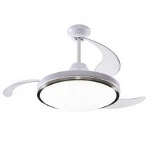 Peabody Ventilador de techo retráctil con iluminación LED PE-VTR42B