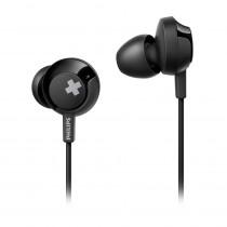 Philips Auriculares Intrauditivos con micrófono Bass + SHE4305BK/00 Negro