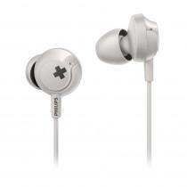 Philips Auriculares Intrauditivos con micrófono Bass + SHE4305WT/00 Blanco