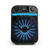 Philips Parlante Bluetooth Party Bass + TANX20/77 Negro