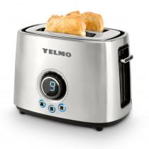 Yelmo Tostadora electrónica TO-3007 1000W INOX/LED