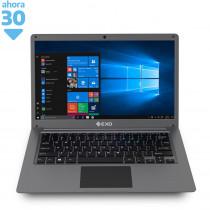 """EXO Notebook 14"""" Smart E19 Celeron 4/64GB W10 Gris"""