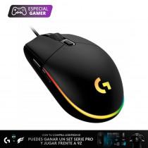 Logitech Mouse G203/5793 Gamer LIGHTSYNC Negro