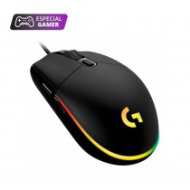 Logitech Mouse G203/5793 Gamer LIGHTSYNC Negro