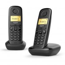 Gigaset Teléfono Inalámbrico A170 DUO Negro