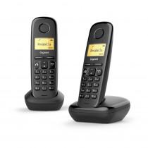 Gigaset Teléfono Inalámbrico A270 DUO M/Libres Negro