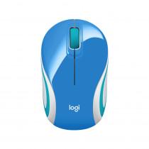 Logitech Mouse Optico Inalàmbrico M187/5360 MINI Azul
