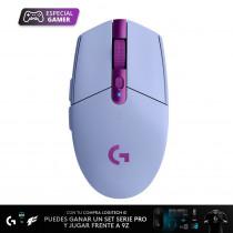 Logitech Mouse inalámbrico LIGHTSPEED G305/6021 Gamer Lila