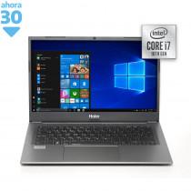 """Haier Notebook 14.1"""" CÍ7 NL40LU 16/512GB Grafito"""