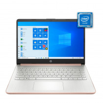 """HP Notebook 14"""" 14-DQ0004DX 4/64GB Rosa"""